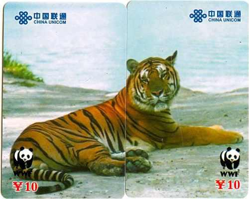 Tarj China Puzzle 2 Tarjetas Tigre Bahia