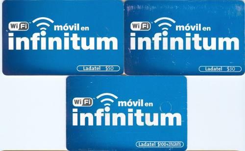 Tarj Infinitum Valores 30, 50 Y 100 Chip Nuevo