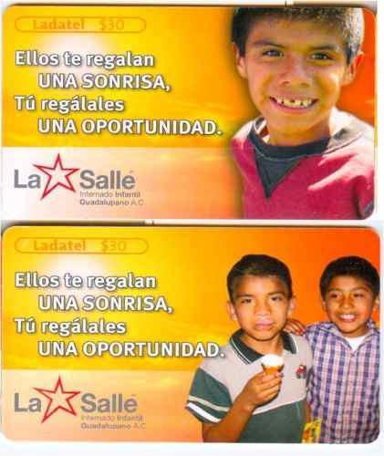 Tarj La Salle Ellos Te Regalan Una Sonrisa, Tu Regalales Una