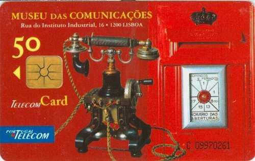 Tarj Portugal Telefono Antiguo Museo De Telecomunicaciones