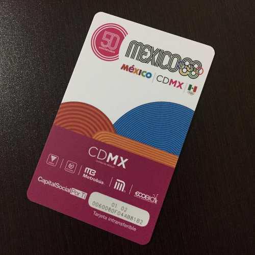 Tarjeta Del Metro 50 Aniversario Olimpiadas México 68