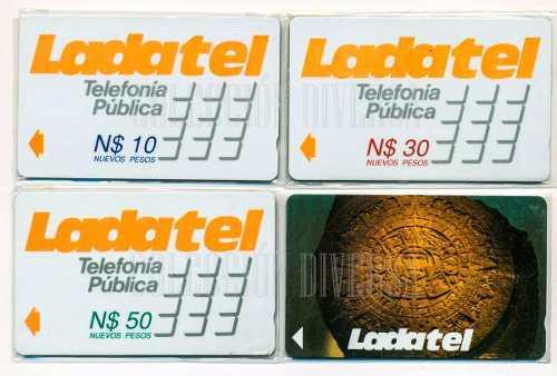 Tarjetas Telefónicas Banda Magnética 4 Piezas