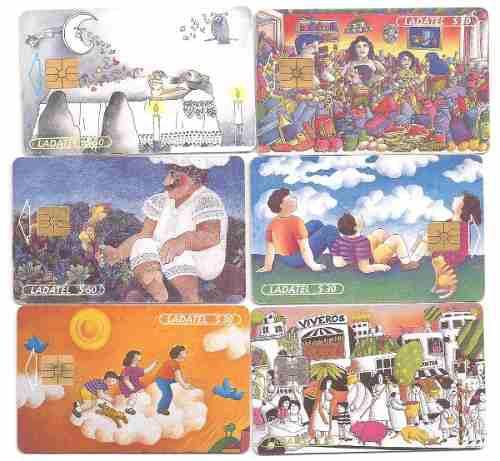 Tarjetas Telefónicas Serie Arte Ilustrativo