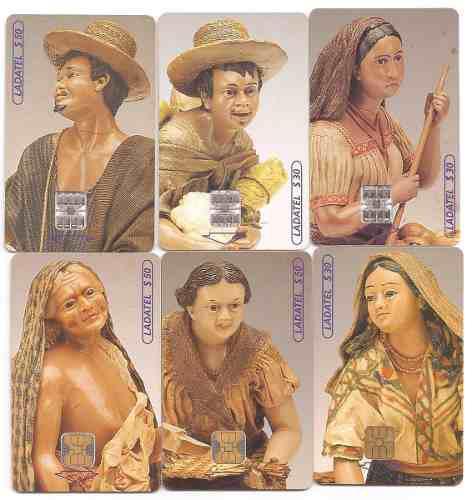 Tarjetas Telefónicas Serie Figuras De Cera