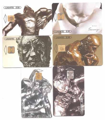 Tarjetas Telefónicas Serie Rodin