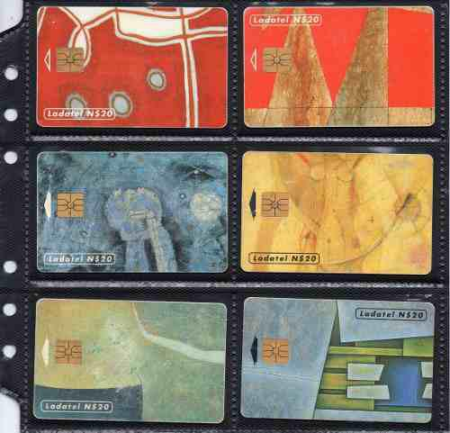 Tarjetas Telefonicas Serie Arte Abstracto