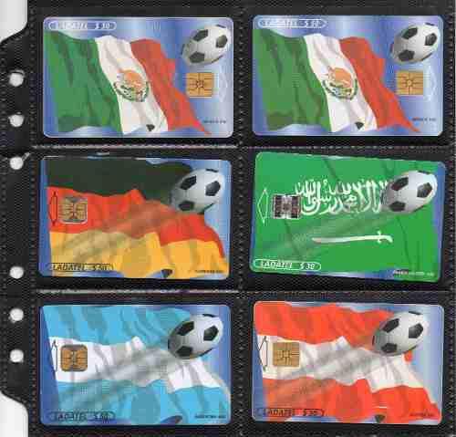 Tarjetas Telefonicas Serie Banderas Mundial Francia 98