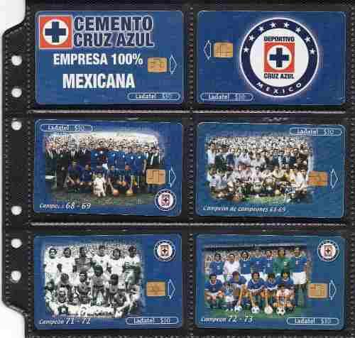 Tarjetas Telefonicas Serie Equipo Cruz Azul