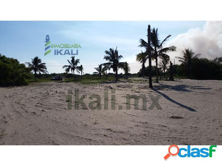 Venta Terreno frente al mar 5,572 m² playa Tuxpan Veracruz,