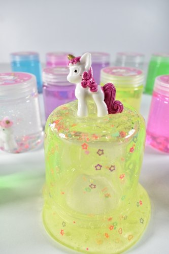 12 Botes Slime Con Figura De Unicornio Y Aroma