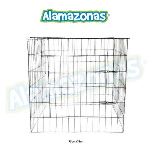 Jaula Rascadero Para Aves (gallos, Palomas) 75x75cm Kit 3 Pz
