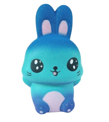 Squishy Kawaii Jumbo Con Aroma: Conejito Azul Galactico