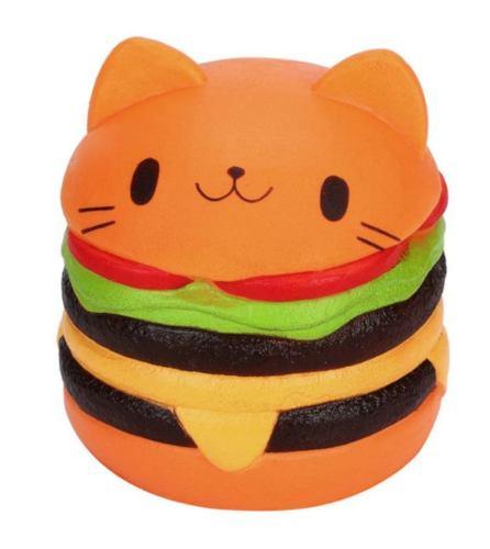 Squishy Kawaii Jumbo Con Aroma: Hamburguesa De Gato