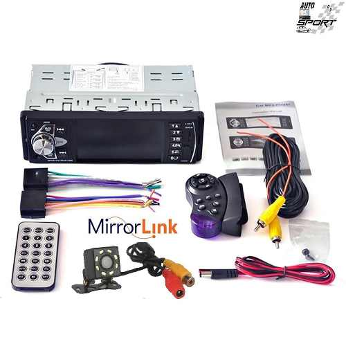 Auto Estéreo Pantalla 1 Din Mirror Link Camara Control