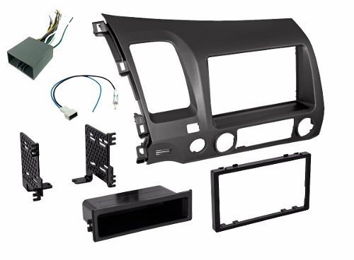 Base Estereo Frente Kit 1 O 2 Din Honda Civic Año