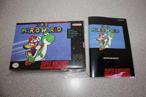 Caja Custom Y Manual Custom Para Super Mario World Snes