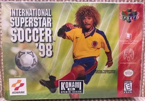International Super Star Soccer 98 (caja, Manual, Cartucho)