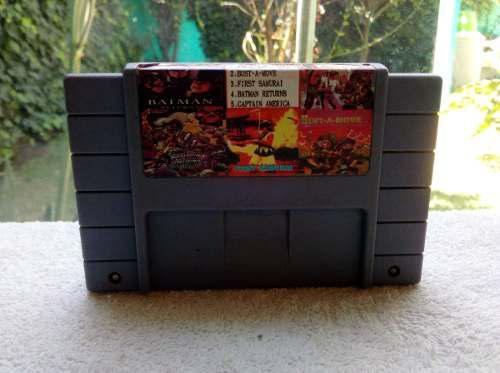 Juego 5 En 1 Super Nintendo Multijuegos