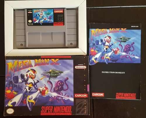 Mega Man X Snes Completo Cartucho 100% Original Como Nuevo