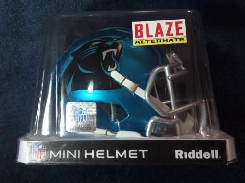 Oferta! Nfl Mini Casco Blaze Carolina Panthers