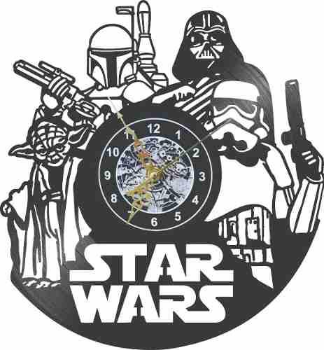 Reloj Vinil De Pared Star Wars. ¡precio Especial!