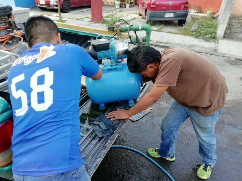 Servicio a bomba de agua, hidroneumático, bomba