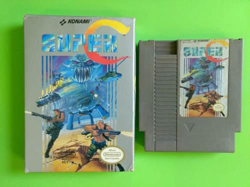 Super C Contra Videojuego Cartucho Konami Caja Original