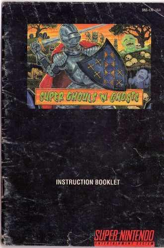 Super Ghouls N Ghosts Super Nintendo Snes Solo Manual