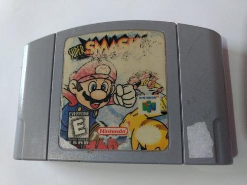 Super Smash Nintendo 64 Mario Videojuego Cartucho