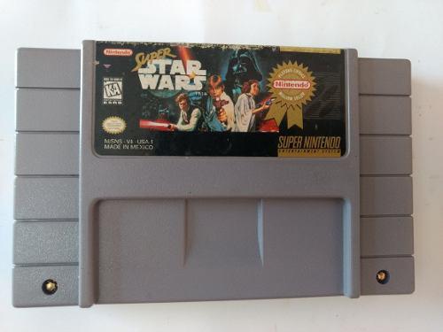 Super Star Wars Super Nintendo Snes Videojuego Cartucho