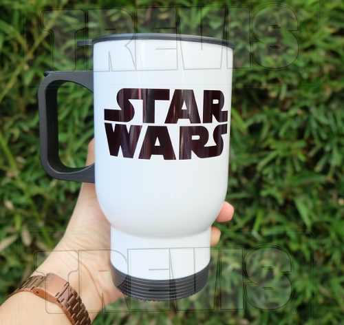 Termo Para Café Star Wars Con Nombre Personalizado