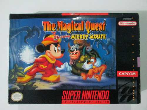 The Magical Quest Mickey Mouse -con Caja Super Nintendo Snes