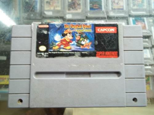 The Magical Quest Starring Mickey Mouse Super Nintendo Snes