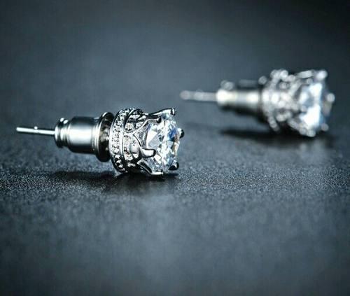 Aretes Con Zirconia Calidad Diamante Fantastico