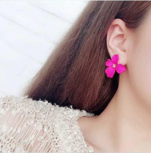 Aretes De Flores Moda Accesorios Mujer Bisutería Pendientes