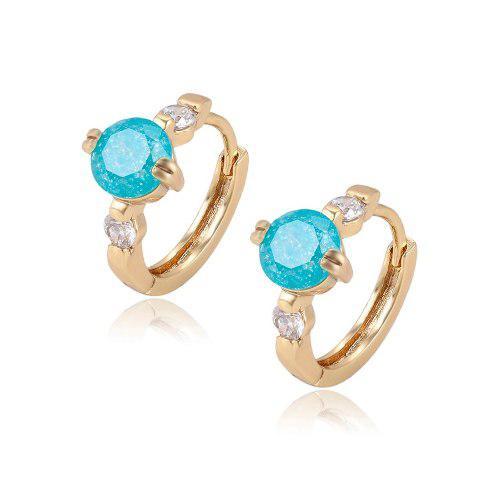 Arracadas Oro Lam 14k Con Opalo Y Zirconias Calidad Diamante