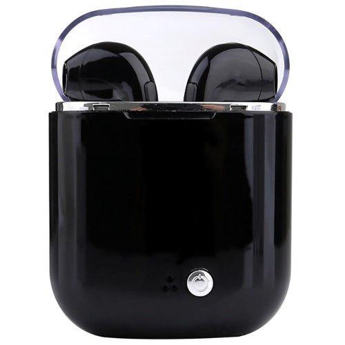 Audífonos Bluetooth I7s Tws Con Caja De Carga Mini Negro