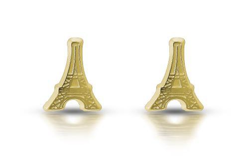 Broquel De Oro De 10k Torre Eiffel
