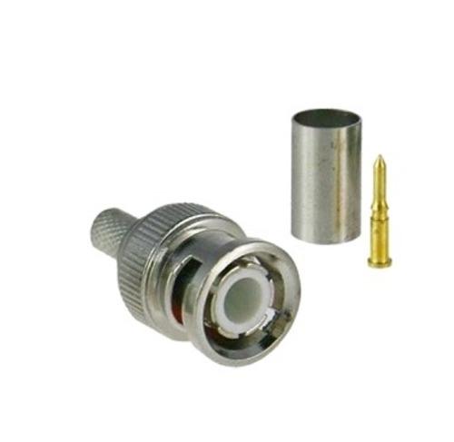 Conector Bnc Macho De 3 Piezas Para Cable Coaxial Rg59/rg6