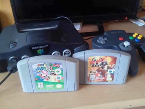 Consola N64 Con Juegos De Mario Blast Corps