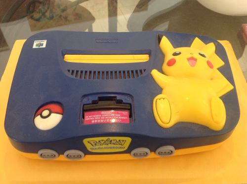Consola N64 Edición Pikachu Con Megaman 64