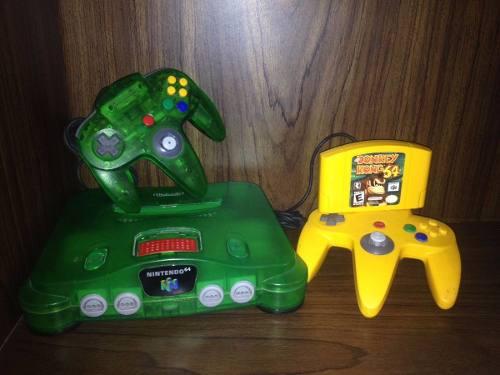 Consola N64 Edicion Jungle Dk Juego Y Expansion Pack Barato
