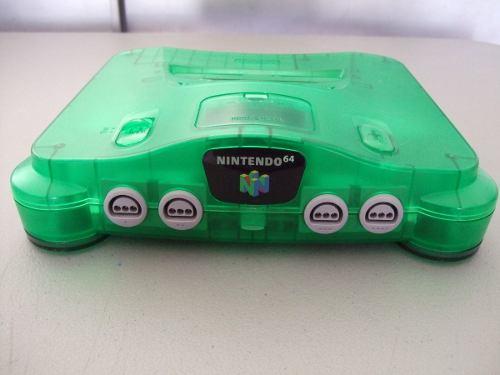 Consola N64 Verde Transparente