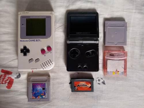 Game Boy Sp Doble Luz & Game Boy Clasico - Riki's Games
