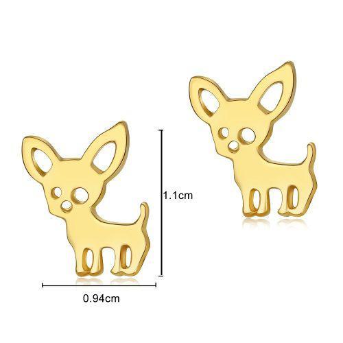 Hermosos Aretes En Forma De Perritos Chihuahua