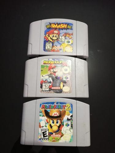 Juegos Mario N64, Smash, Control Y Consola