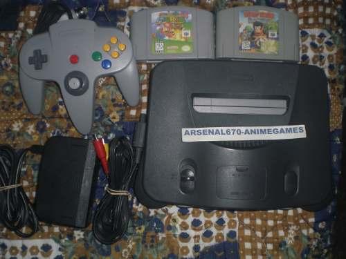 Nintendo 64 + Super Mario 64 Y Diddy Kong Raci + 4 Juego N64