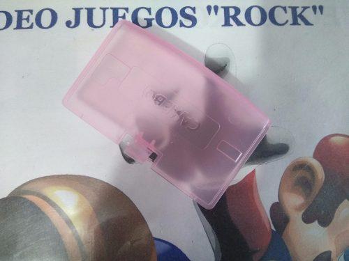 Tapa De Baterías Pilas Game Boy Advance Rosa Transparente