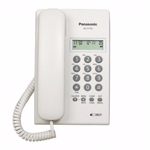 Telefono Con Pantalla, Caller Id Blanco Kx-t7703
