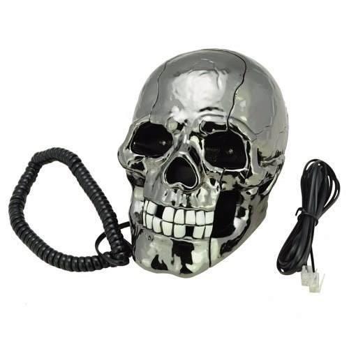 Telefono Fijo Para Casa Forma Calavera Craneo Skull Phone